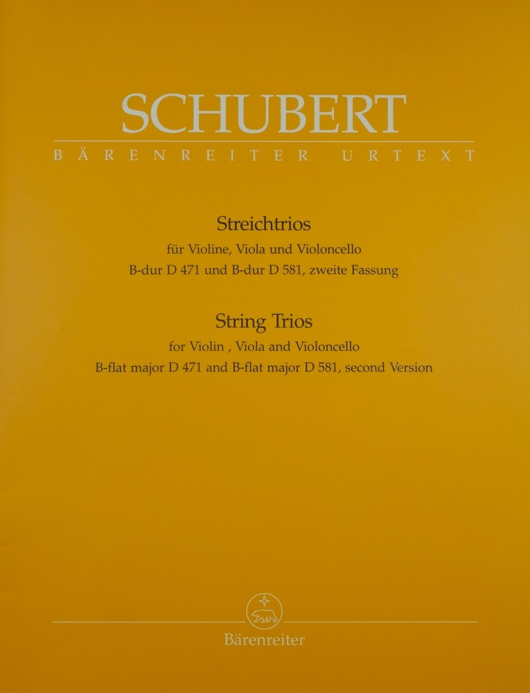 2 Trios B-dur, für Violine, Bratsche und Violoncello