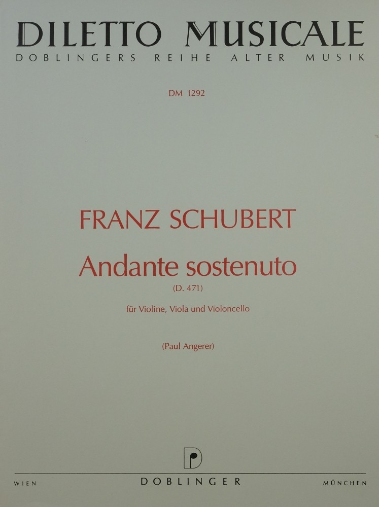 Andante sostenuto Es-dur, für Violine, Bratsche und Violoncello