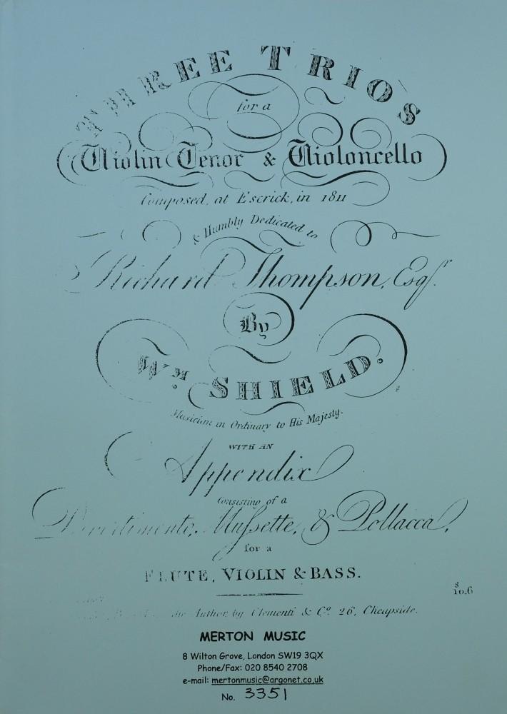 3 Trios (F/G/A), für Violine, Bratsche und Violoncello