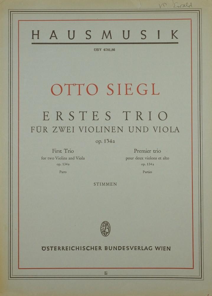 Trio a-moll, op. 134a, für 2 Violinen und Bratsche