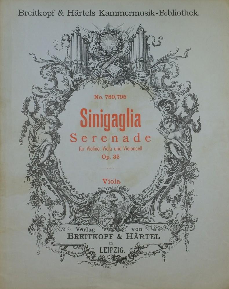 Serenade, op. 33, für Violine, Bratsche und Violoncello