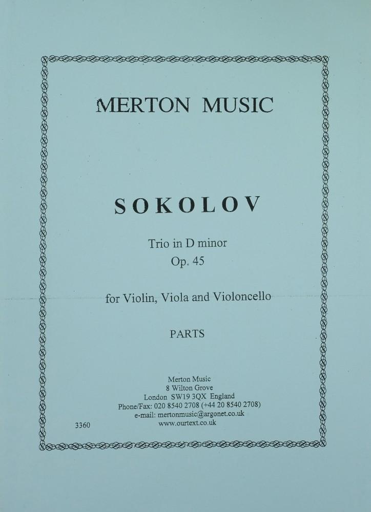 Trio d-moll, op. 45, für Violine, Bratsche und Violoncello