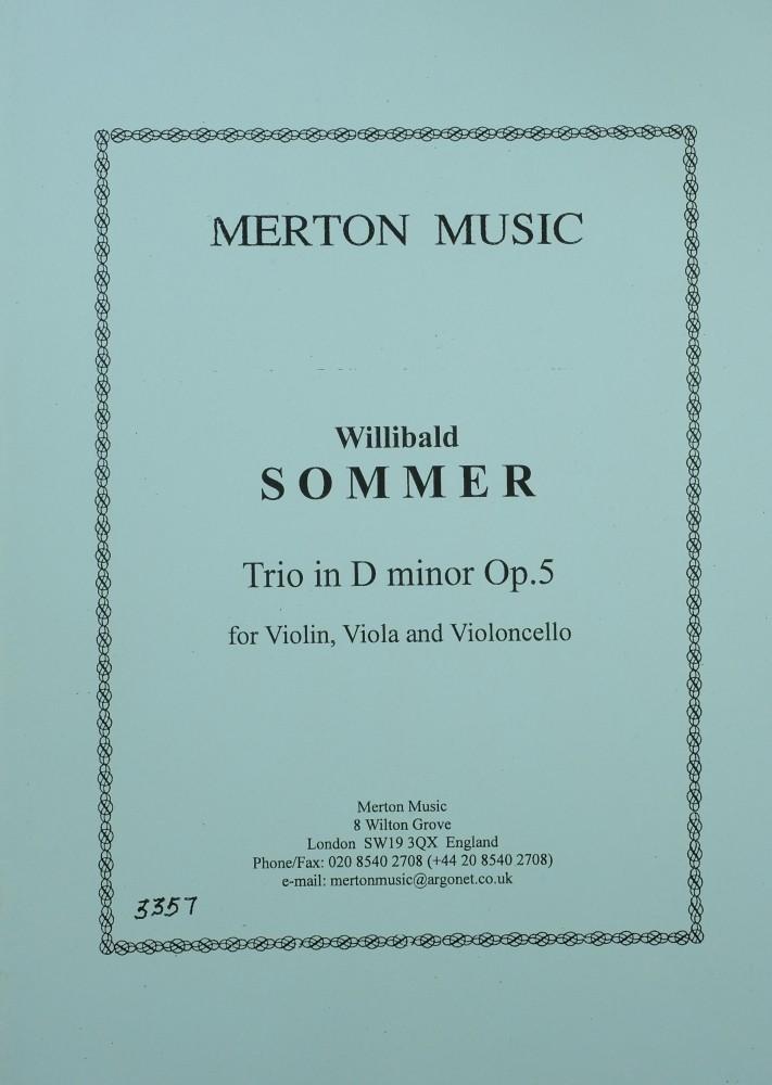 Trio d-moll, op. 5, für Violine, Bratsche und Violoncello