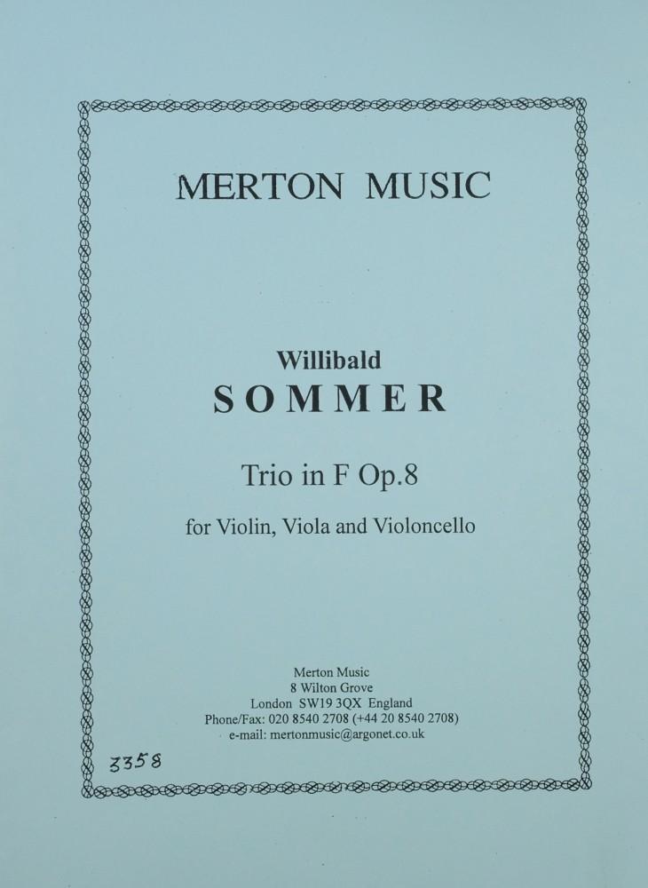 Trio F-dur, op. 8, für Violine, Bratsche und Violoncello