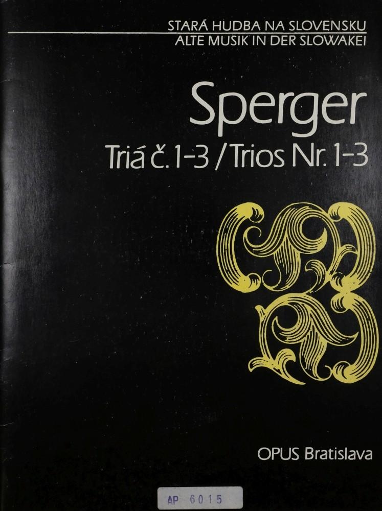 3 Trios (C/G/D), für Violine (Flöte), Bratsche und Violoncello