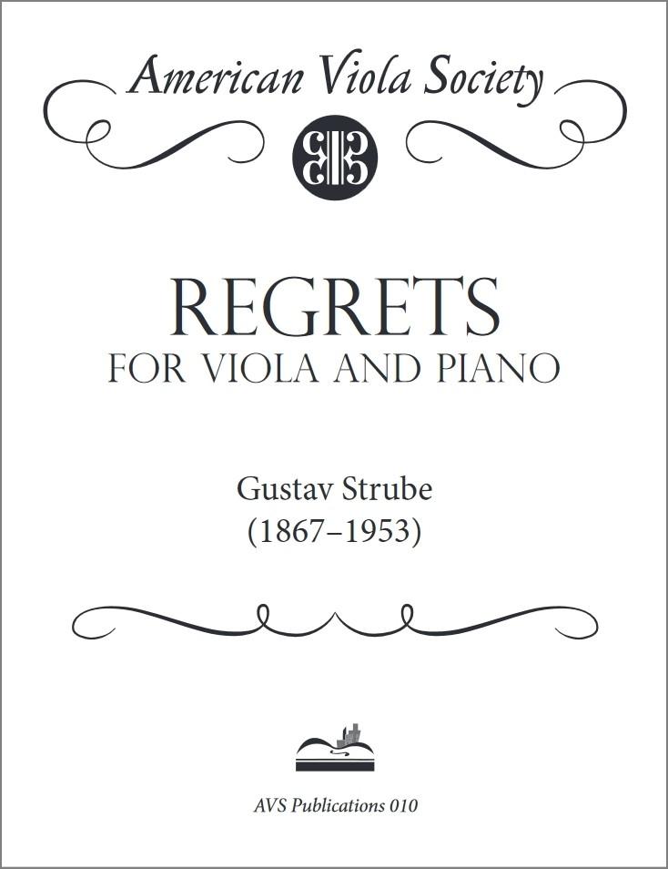 Regrets für Bratsche und Klavier