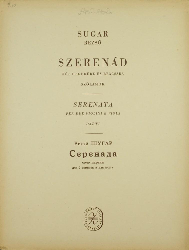 Serenade für 2 Violinen und Bratsche