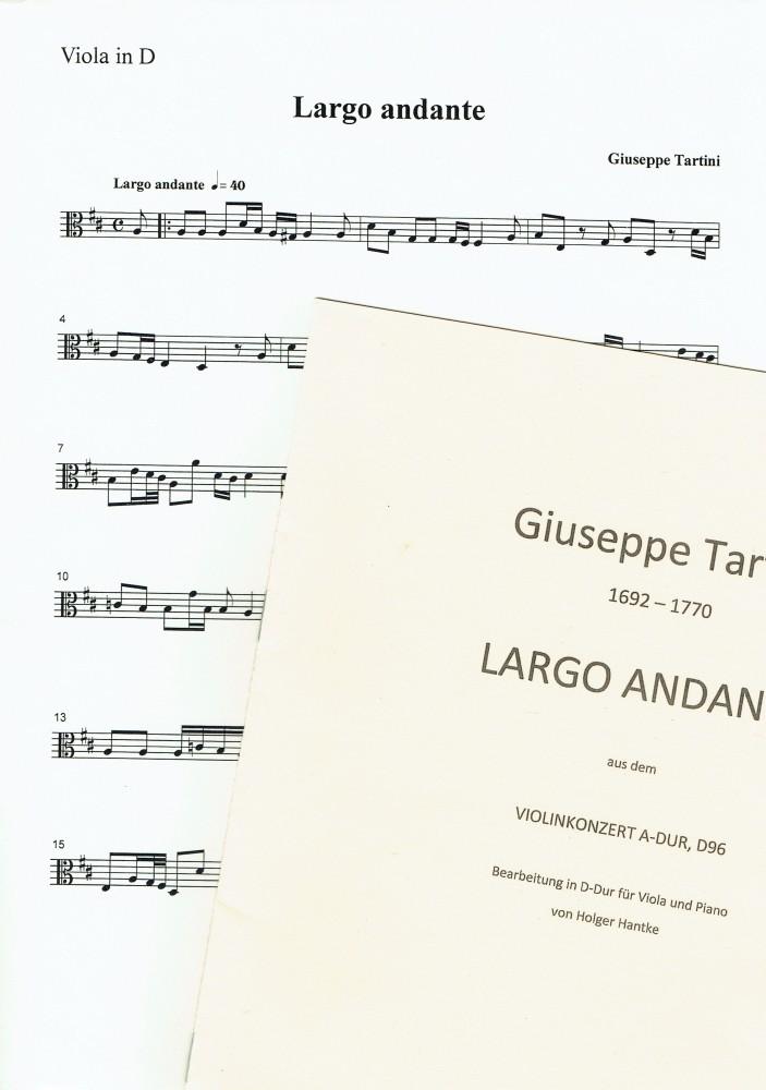 Largo Andante D-dur, D96, für Bratsche und Klavier, für Bratsche und Klavier, für Bratsche und Klavier