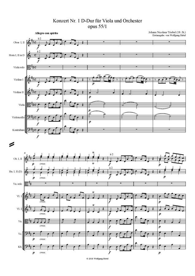 Konzert Nr. 1, D-dur, op. 55, Nr. 1, für Viola und Orchester