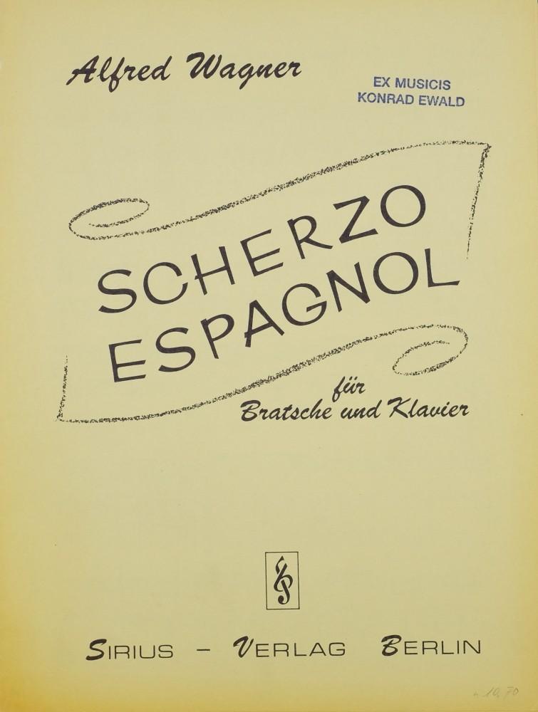 Scherzo espagnol, für Bratsche und Klavier