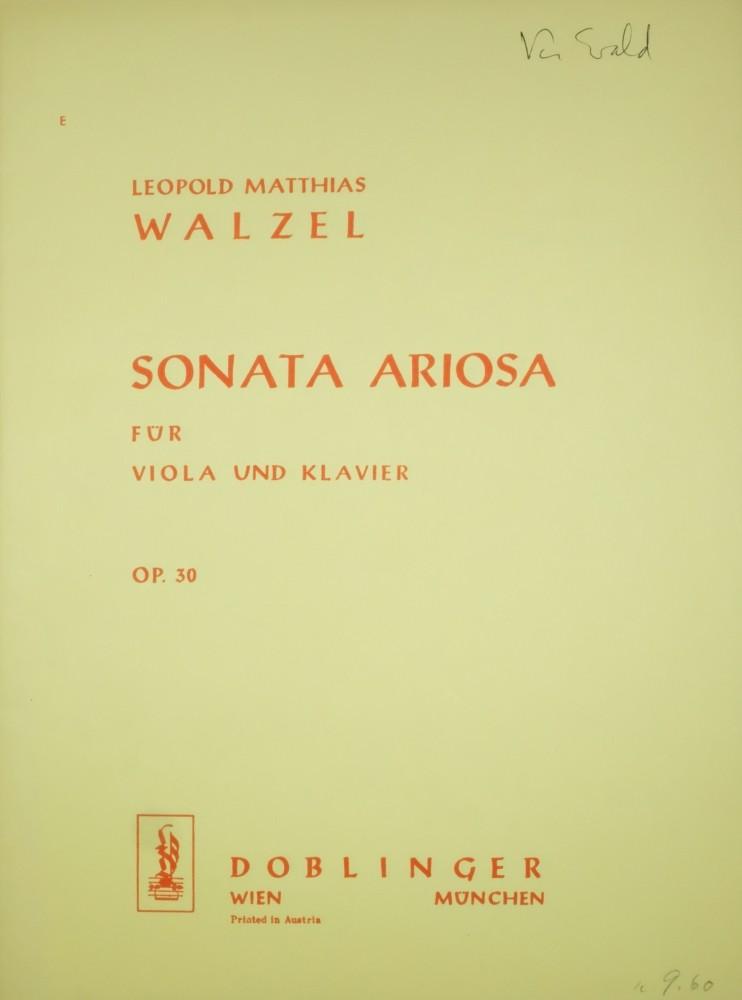 Sonata ariosa, op. 30, für Bratsche und Klavier