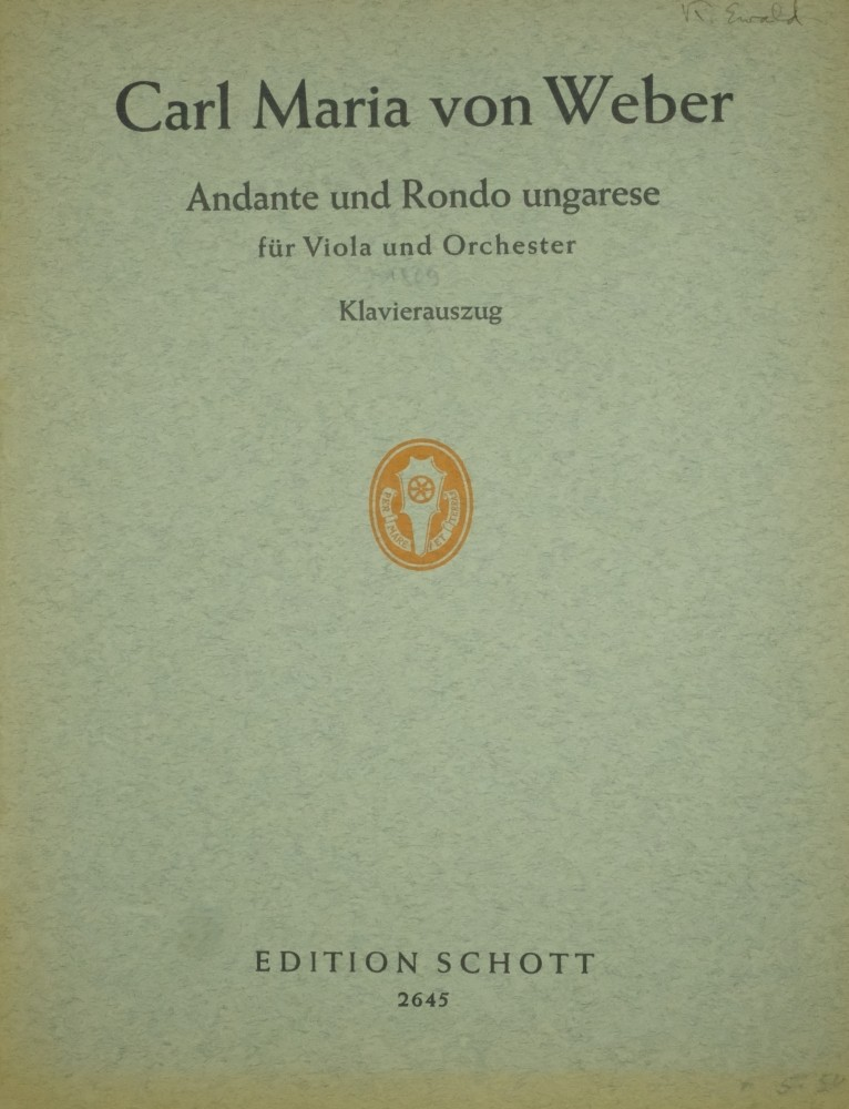 Andante e Rondo Ungarese, für Bratsche und Orchester