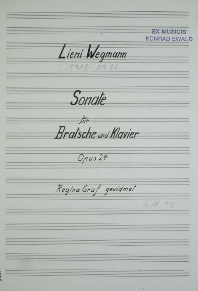 Sonate, op. 24, für Bratsche und Klavier