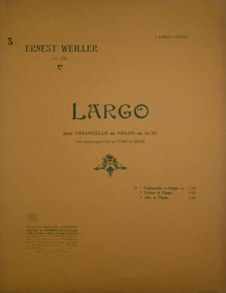Largo h-moll, op. 296, für Bratsche und Klavier