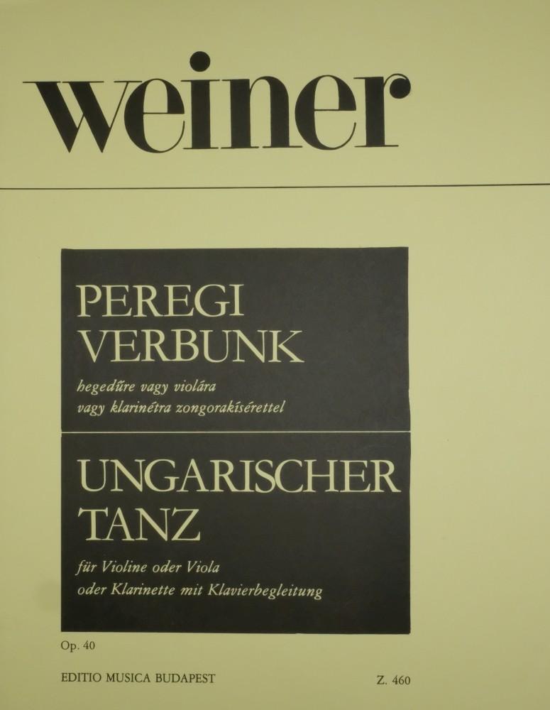 Ungarischer Tanz, op. 40, für Violine (Bratsche/Klarinette) und Klavier