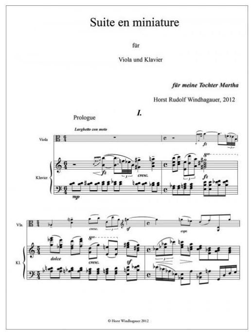 Suite en miniature, für Bratsche und Klavier