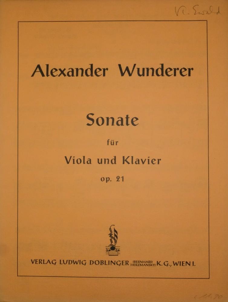 Sonate G-dur, op. 21, für Bratsche und Klavier