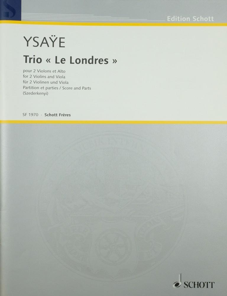 Trio «Le Londres», für 2 Violinen und Bratsche